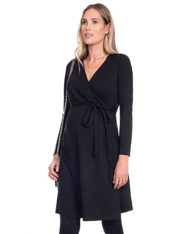 Image for Black Maternity Wrap Dress