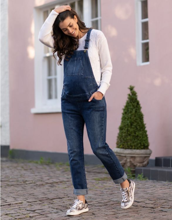 Image for Denim Maternity Dungarees