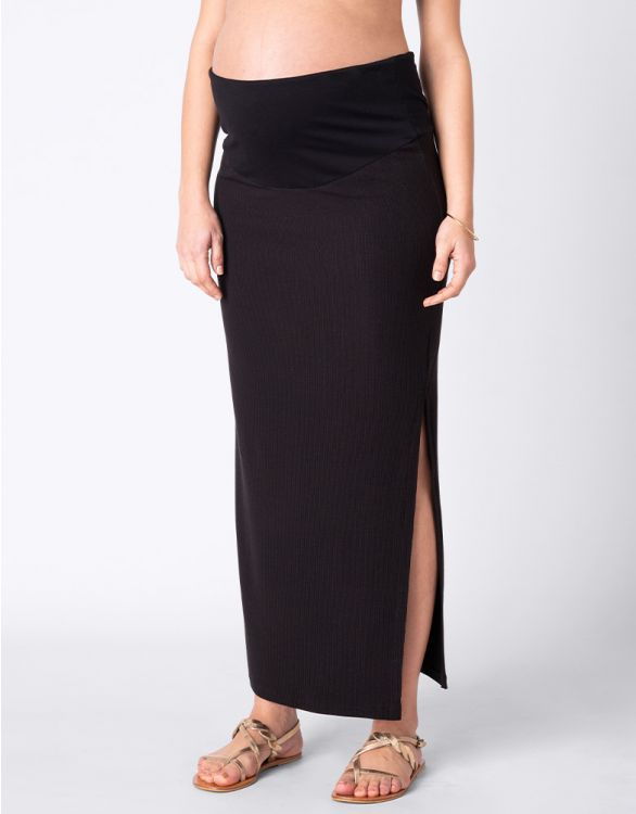 Image for Black Maternity Maxi Skirt