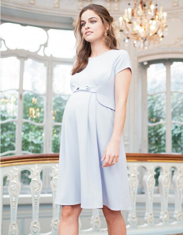 Image for Sky Blue Tailored Maternity Dress