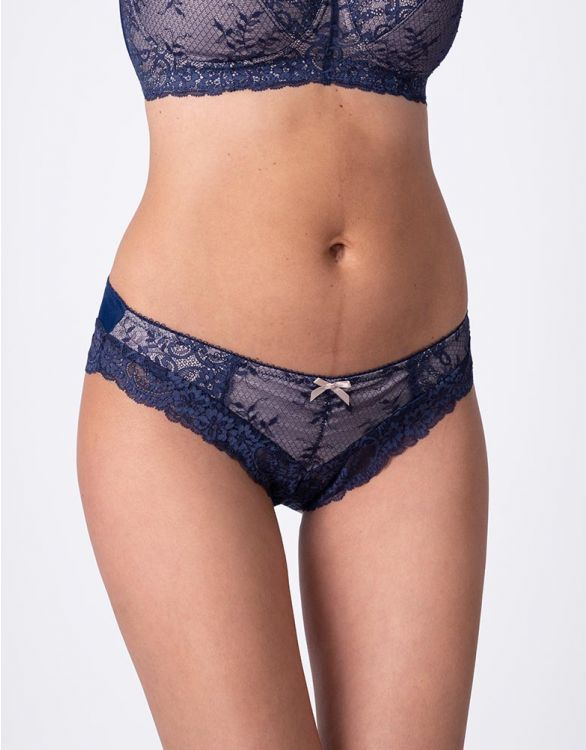 Image for Seraphine Navy Lace Maternity Briefs