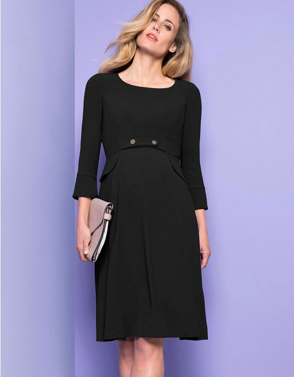 Image for Black Tailored Maternity Dress