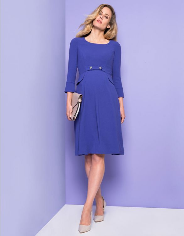 Image for Royal Blue Tailored Maternity Dress