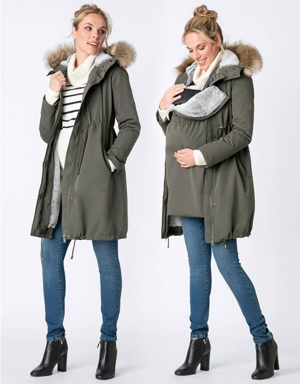 Image for Khaki 3 in 1 Winter Maternity Parka
