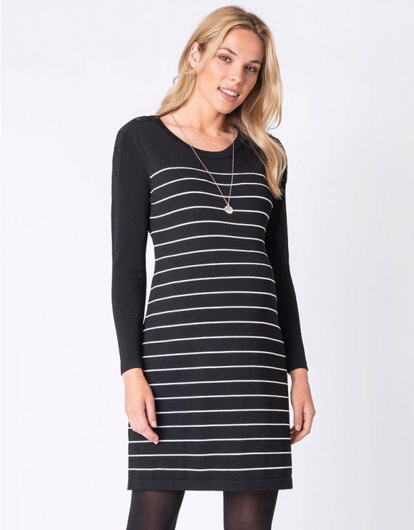 Image for Stretch Knit Maternity & Nursing Dress