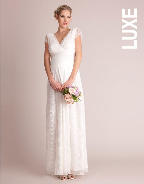 Image for Lace Maternity Bridal Gown