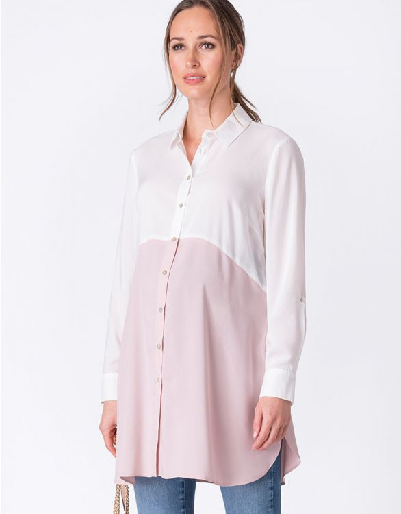 Image for Blush Colour Block Maternity Tunic