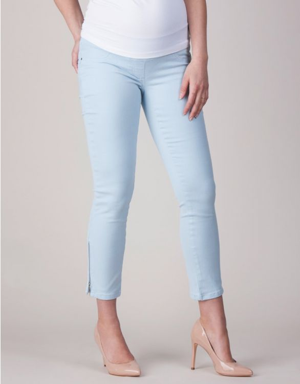 Image for Cropped Ice Blue Under Bump Maternity Jeans