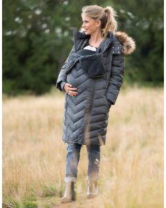 Slate Eco-Down 3 in 1 Winter Maternity Coat