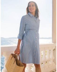 Cotton & Lyocell Maternity & Nursing Shirt Dress