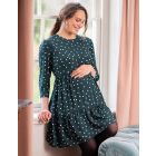 Green Polka Dot Maternity & Nursing Dress