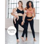 Opaque Cotton Maternity to Postnatal Leggings – Twin Pack
