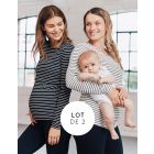 Striped Maternity & Nursing Tops – Twin Pack