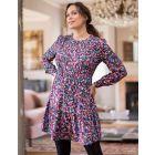 Floral Tiered Maternity & Nursing Dress