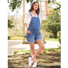 Cotton Maternity Short Dungarees