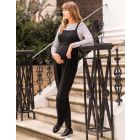 Black Maternity & Nursing Dungarees