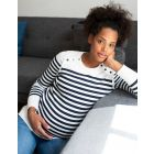 Nautical Cotton Maternity & Nursing Jumper