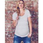 Grey Marl Basic Maternity T-Shirt
