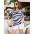 Nautical Maternity & Nursing Top