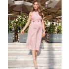 Blush Pink Woven Spot Detail Maternity Midi Dress