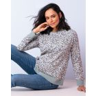 Printed Cotton Maternity & Nursing Sweatshirt