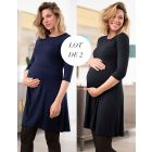 Maternity & Nursing Dresses – Twin Pack