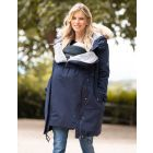 Navy Blue 3 in 1 Winter Maternity Parka