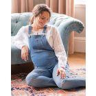 Light Wash Denim Maternity Dungarees