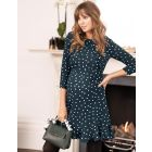 Polka Dot Frill Maternity & Nursing Dress