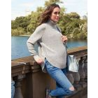 Textured Knit Cape Maternity Jumper