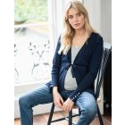 Navy Blue Empire Belt Maternity Cardigan
