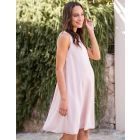 Blush Pink Chiffon Maternity Dress