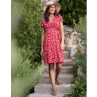 Red Floral Maternity & Nursing Dress