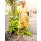 Yellow Frill Maternity & Nursing Dress