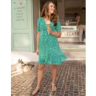 Green Printed Maternity Dress