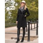 Wool & Cashmere Black Maternity Coat