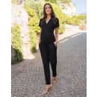 Black Maternity Jumpsuit