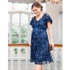 Blue Lace Maternity & Nursing Dress