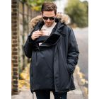Men's Parka with Baby Pouch