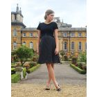 Black Silk & Ponte Maternity & Nursing Dress