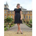 Black Silk & Ponte Maternity & Nursing Dress