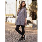 Gingham Maternity & Nursing Tunic