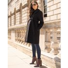 Black Wool Maternity Coat