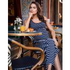 Nautical Maternity Maxi Dress
