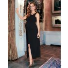 High-Low Black Maternity Dress