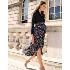 Animal Print Maternity Midi Skirt