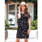 Black Floral Maternity & Nursing Dress