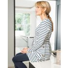 Striped Cotton Maternity & Nursing Tunic