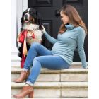 Sea Mist Roll Neck Cashmere Blend Maternity Jumper